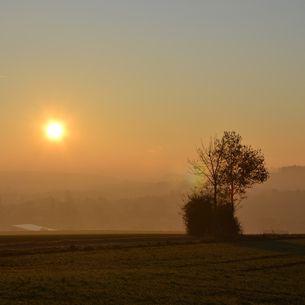 Sonnenuntergang bei Bad Griesbach