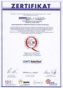 Zertifikat EQR